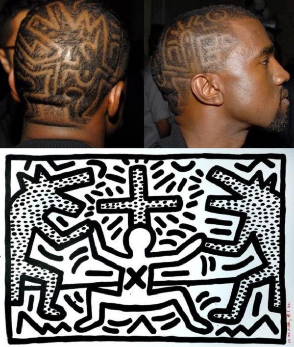 cabelo do rapper kanye west