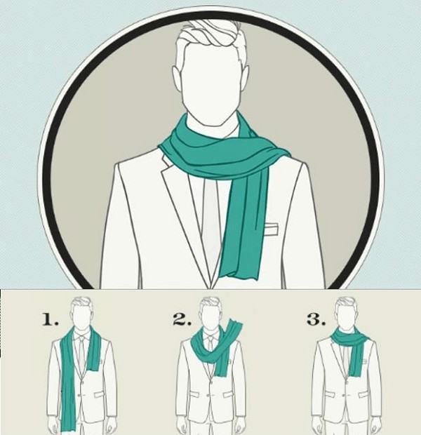cachecol com terno como usar