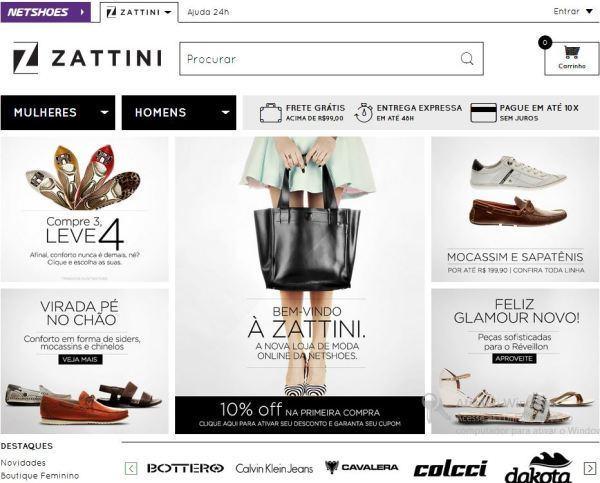 loja virtual de moda da netshoes