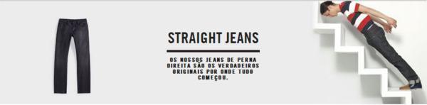 straight leg jeans o que e