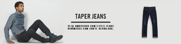 taper jeans o que e