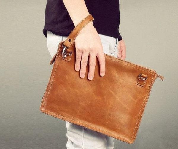 bolsa capanga de couro masculina
