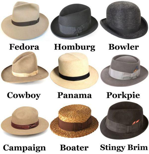 tipo de chapeus
