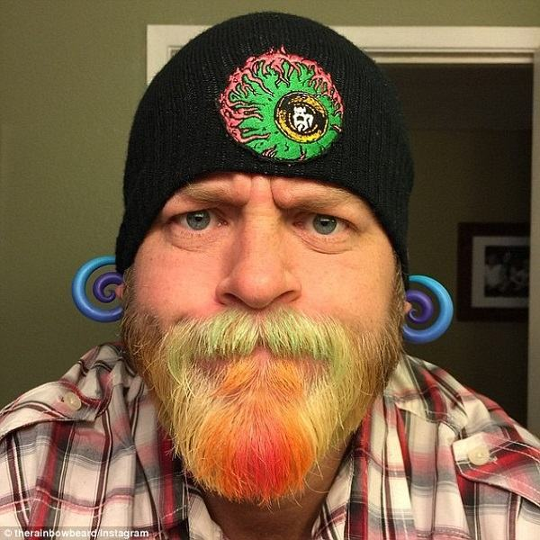 barbas coloridas