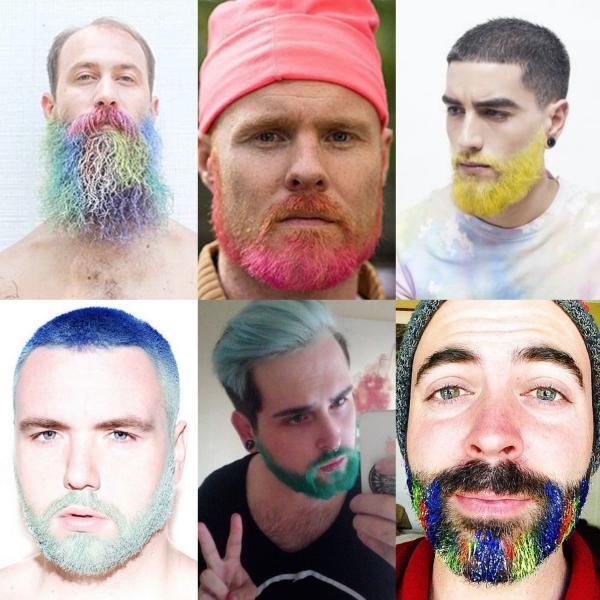 moda barba colorida