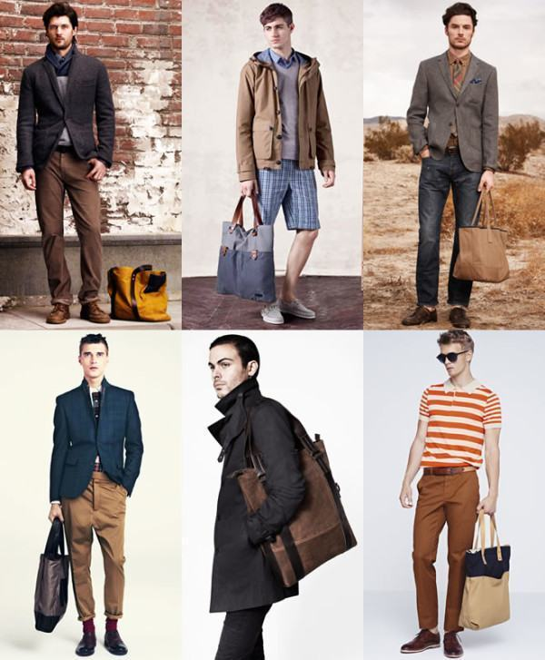 bolsa tote moda masculina
