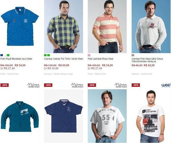 comprar roupas para homens gordinhos