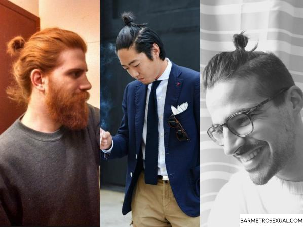 penteado top knot cabelo masculino