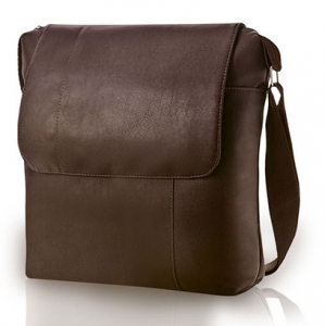 bolsa de couro masculina