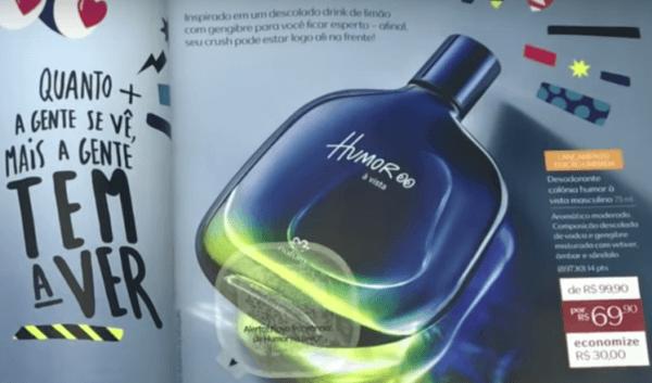 perfume natura humor a vista masculino