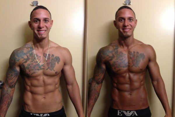 antes e depois bronzeamento artificial masculino